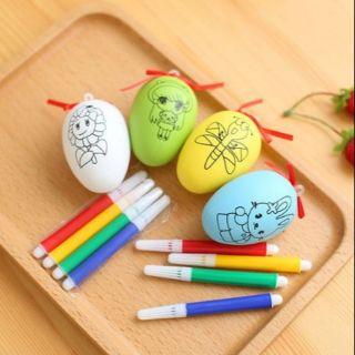 Freeship 99k TQ_20 quả trứng tặng 80 bút màu