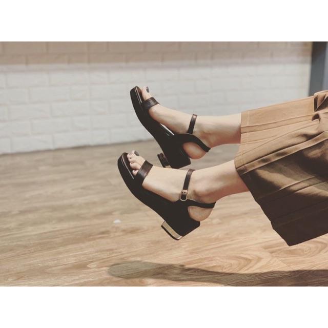 Dép sandal đế vuông cao 5 phân M189 SHOEBYMAI