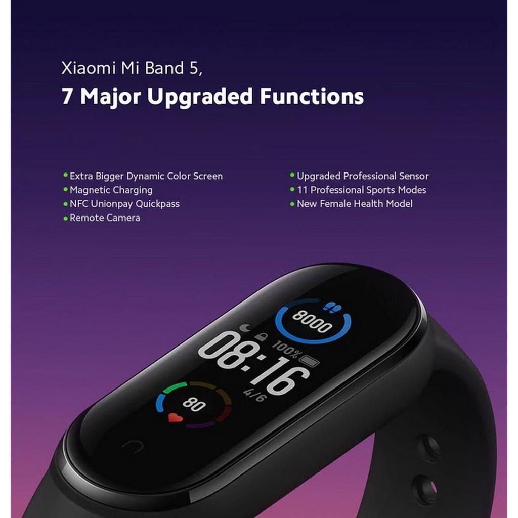 Vòng đeo tay thông minh Xiaomi Mi Band 5 (Global Version) - Hàng chính hãng- BH 12 tháng