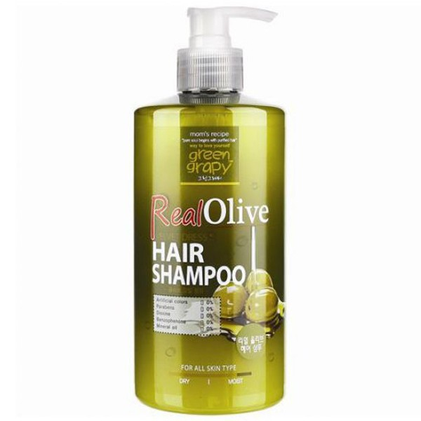 Dầu gội tinh chất olive GREEN GRAPHY Real Olive 500g