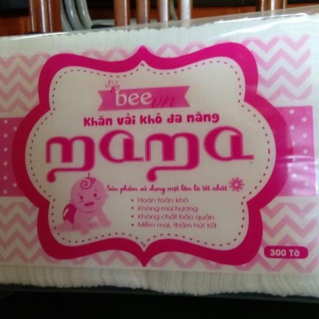Combo 5 gói khăn khô MaMA 300 tờ