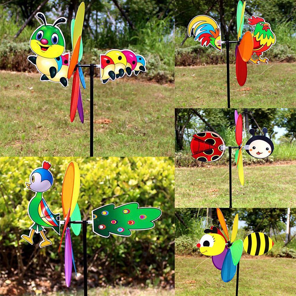 Garden Wind Spinner Windmill Kids Flower Butterfly Funny Yard Decoration