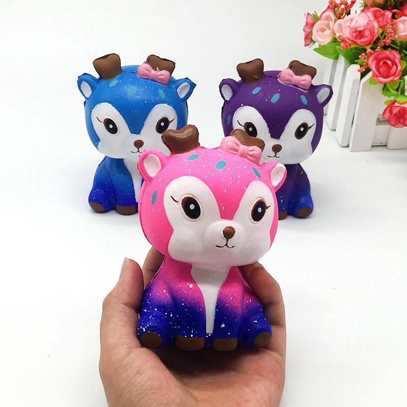 Lovely Squishy Kawaii Star Deer Squishies Slow Rising Mochi Squeeze Toys Gift