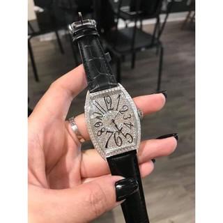 Đồng hồ nữ Franck muller full đá, dây da cao cấp thumbnail