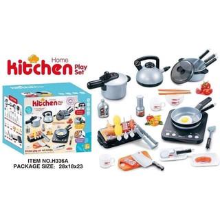 Bộ đồ chơi nấu ăn Home kitchen 36 chi tiết loại to