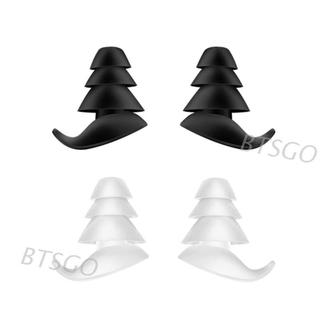 Cặp nút bịt tai 3 lớp chất liệu silicon chống ồn tiện dụng