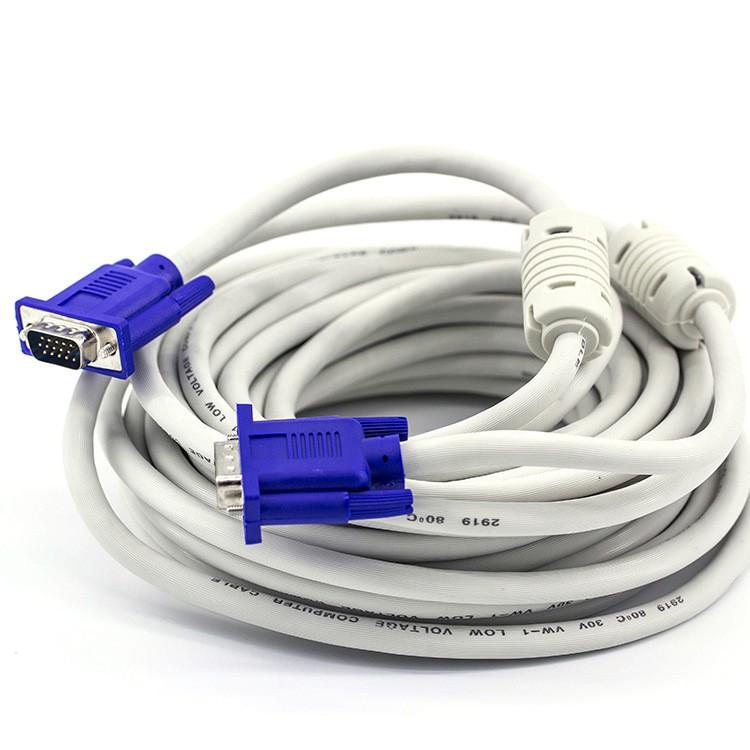 Cáp VGA 2 đầu chồng nhiễu 25m (Trắng) - Dây VGA 2 đầu chồng nhiễu 25m (Trắng) - Dây nối VGA 25m - Cá