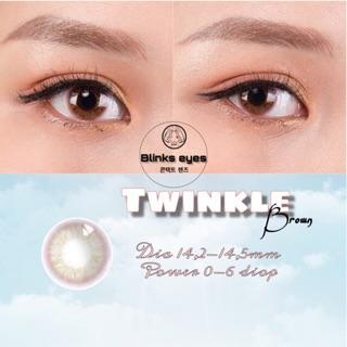 Twinkle brown ( 0-6 diop ) - note độ cận - lens kính áp tròng thumbnail