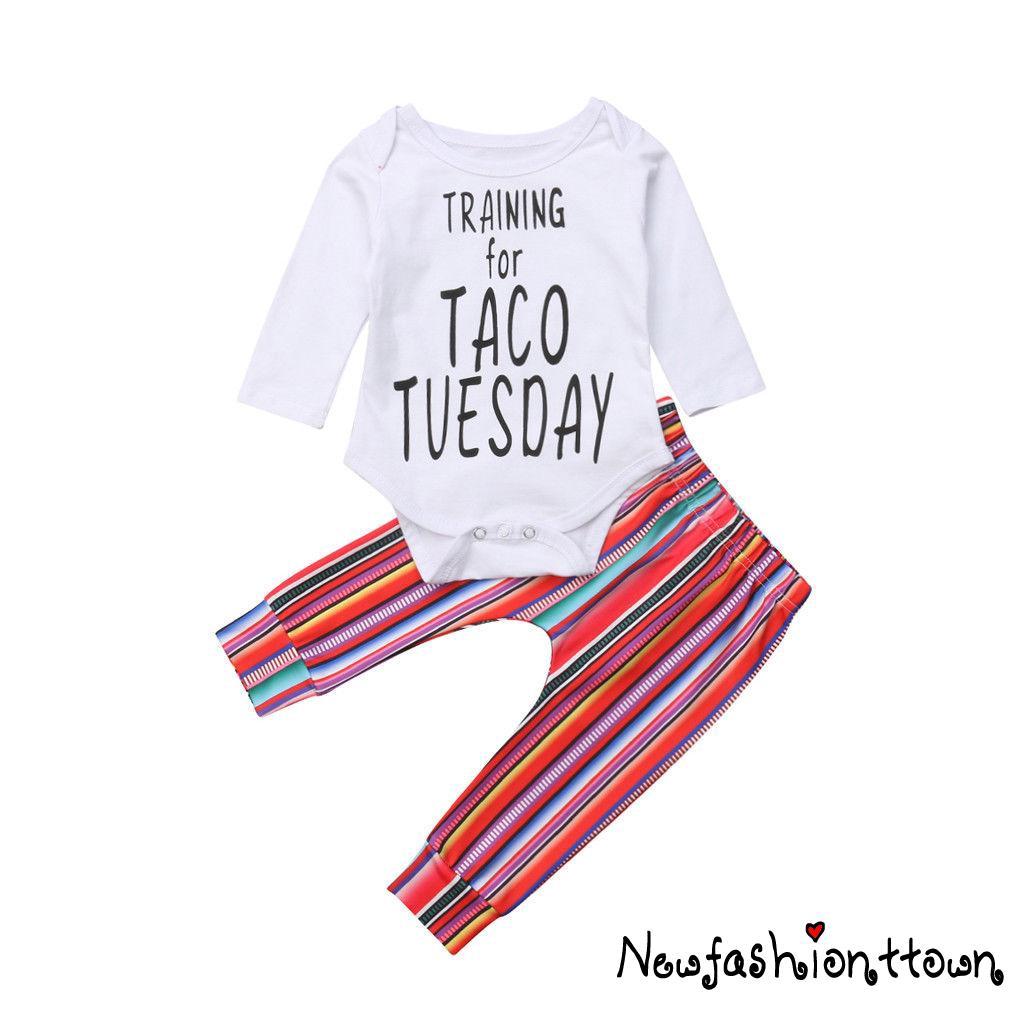 3pcs Newborn Infant Baby Girl Outfits Clothes Romper Bodysuit Pants Leggings Set