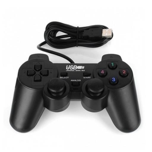 (Xả lỗ) Tay cầm chơi game cho PC/Laptop cổng USB đen (có gạt Analog)