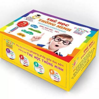 Bộ thẻ học thông minh 16 chủ đề tiếng anh tiếng việt cho bé