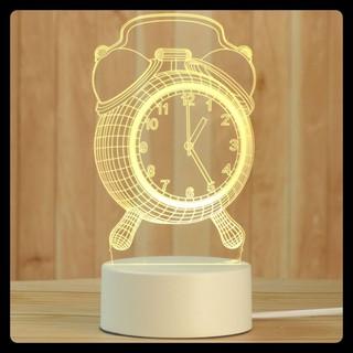 Đèn 3d hình đồng hồ để bàn đẹp - quà tặng trang trí phòng xinh, giá rẻ