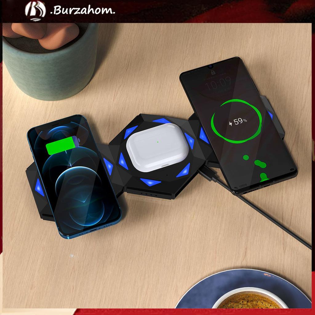 Set 2 Tai Nghe Từ Tính Không Dây 2 Trong 1 Dùng Cho Iphone 12