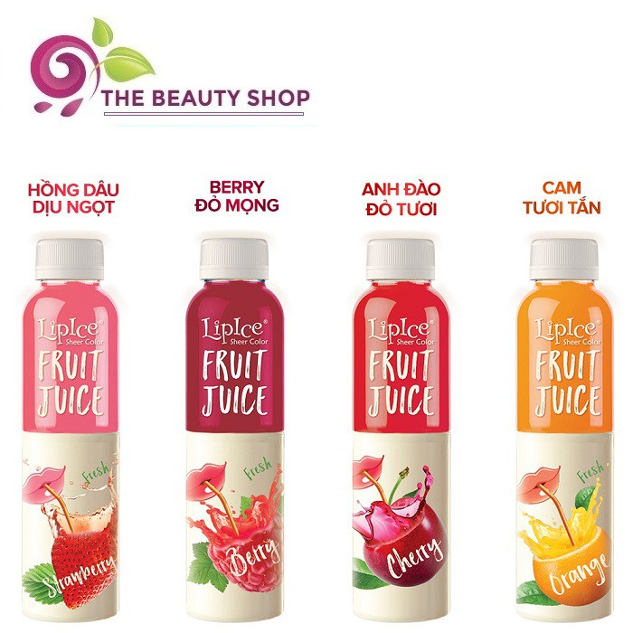 Son dưỡng chiết xuất trái cây Lipice Sheer Color Fruit Juice 4g