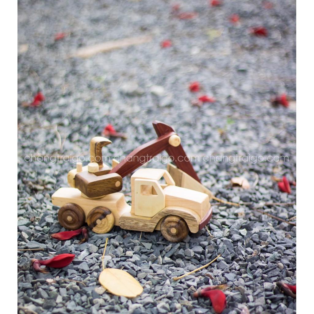 Chàng Trai Gỗ - Đồ chơi gỗ cho trẻ em : Xe tải, xe cẩu, xe máy xúc, xe cứu...