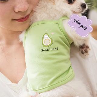 Áo cho chó nhỏ, mèo 3 lỗ mùa hè chất cotton hình chú ngựa kỳ lân dễ thương đi dạo đi chơi YEUPET thumbnail