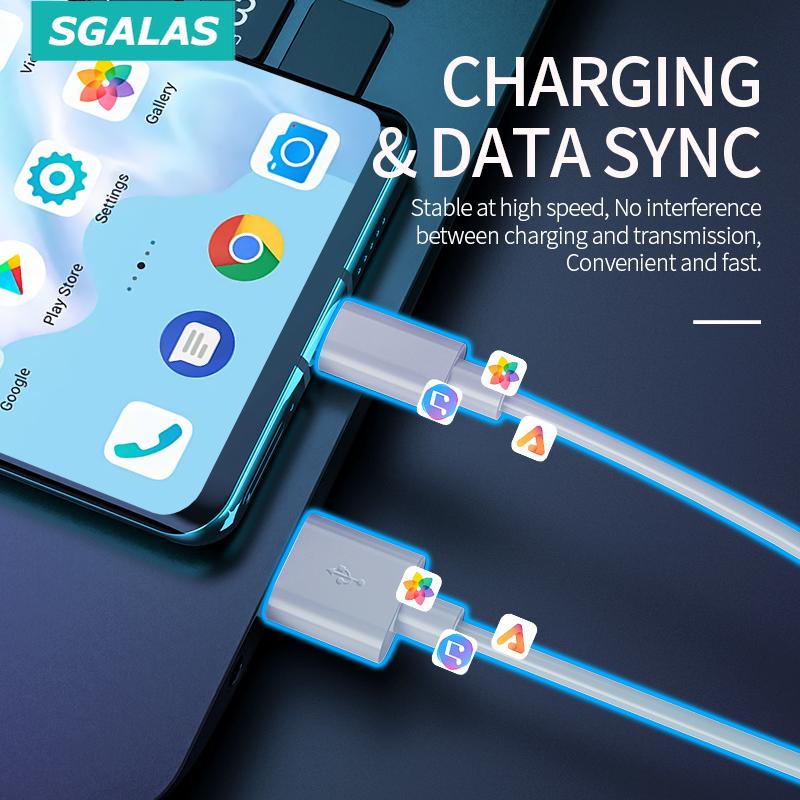 Cáp sạc đồng bộ hóa dữ liệu USB Type C Sgalas 5A cho điện thoại tiện dụng