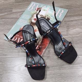 Sandal dây đá 7 màu chữ T