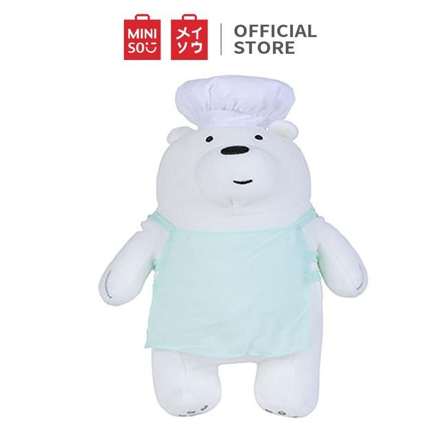 Thú bông Miniso Bare Bears Plush hình chú gấu đầu