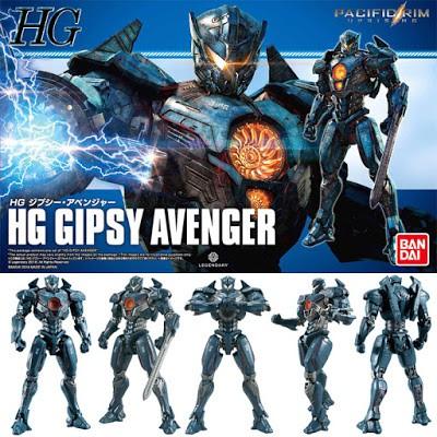 Mô Hình Lắp Ráp HG Gipsy Avenger (Pacific Rim) Bandai 5.0 (có LED)