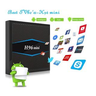 Android Tivi Box H96 mini 2G Ram và 16G bộ nhớ trong Chip s905w tặng dây AV biến tivi thường thành tivi thông minh .