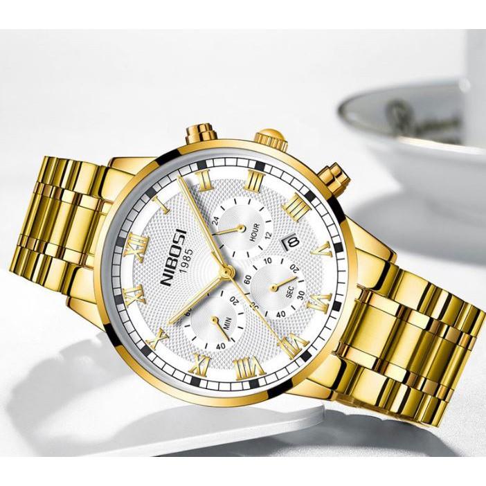 [Tặng vòng tay]Đồng hồ nam NIBOSI chính hãng NI2339 thời trang cao cấp