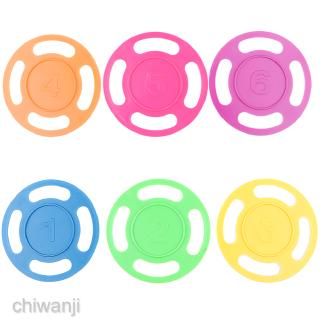 6Pcs Plastic Colorful Diving Rings with Numbers Kids Swimming Pool Toys