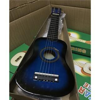 Combo 2 đàn ukulele 1 màu đen 1 màu xanh viền đen và kính thuglife