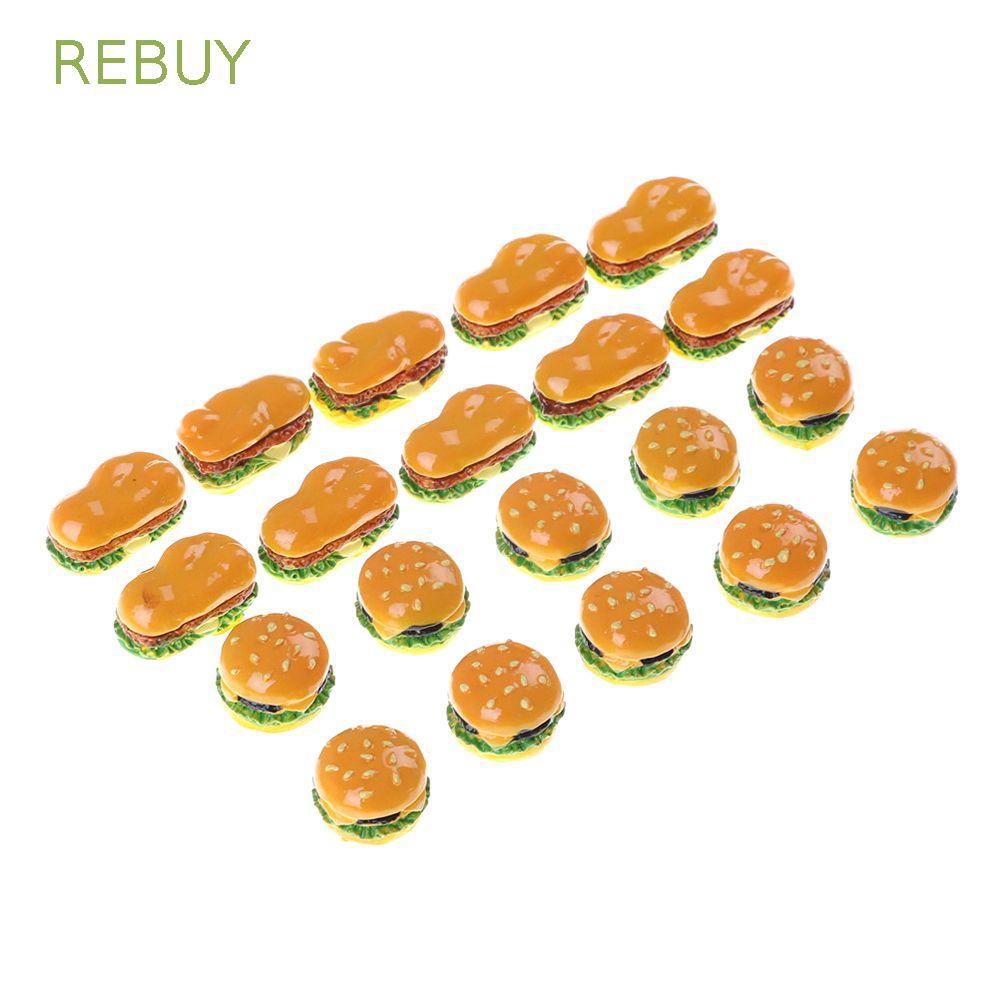 REBUY Craft Decoration Hamburger Resin DIY Miniature