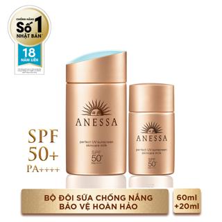 Hình ảnh Bộ đôi chống nắng bảo vệ hoàn hảo Anessa Perfect UV Sunscreen Skincare Milk (60ml + 20ml)_95563E-0