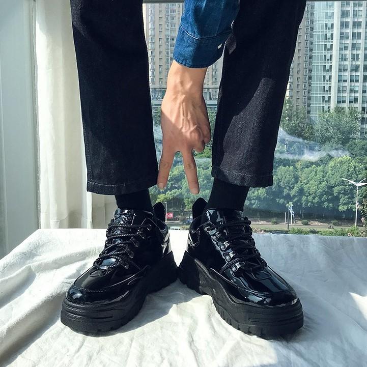 Giày Da Bóng Tăng Chiều Cao Hàng Quảng Châu Cao Cấp