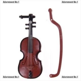 [AdornmentNo1] 1:12 Dollhouse Miniature Violin Musical Instruments Collection DIY Decor Gift