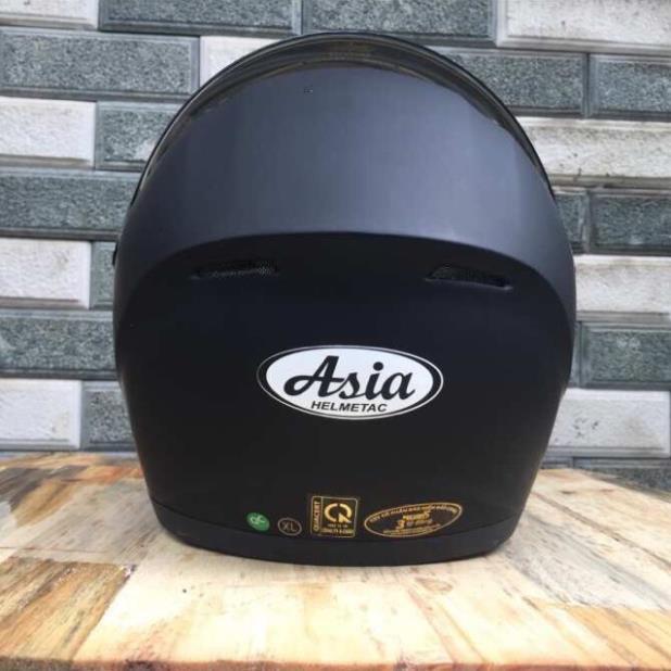 Mũ bảo hiểm fullface asia MT-136 đen nhám