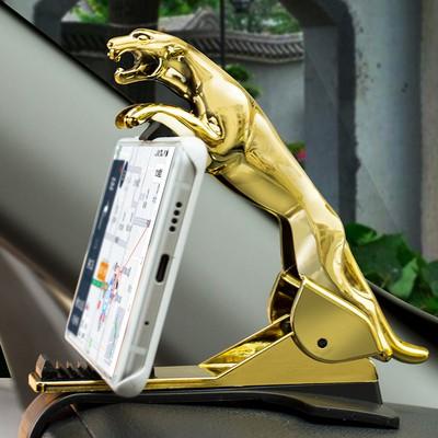 Giá đỡ điện thoại trên ô tô  Xoay 360 Độ Kẹp điện thoại trên TAPLO xe hơi Chống Trượt Hình Con Báo