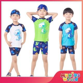 Bộ quần áo bơi ngắn tay cho bé 3-9 tuổi, đồ bơi trẻ em mẫu khủng long mới 2021