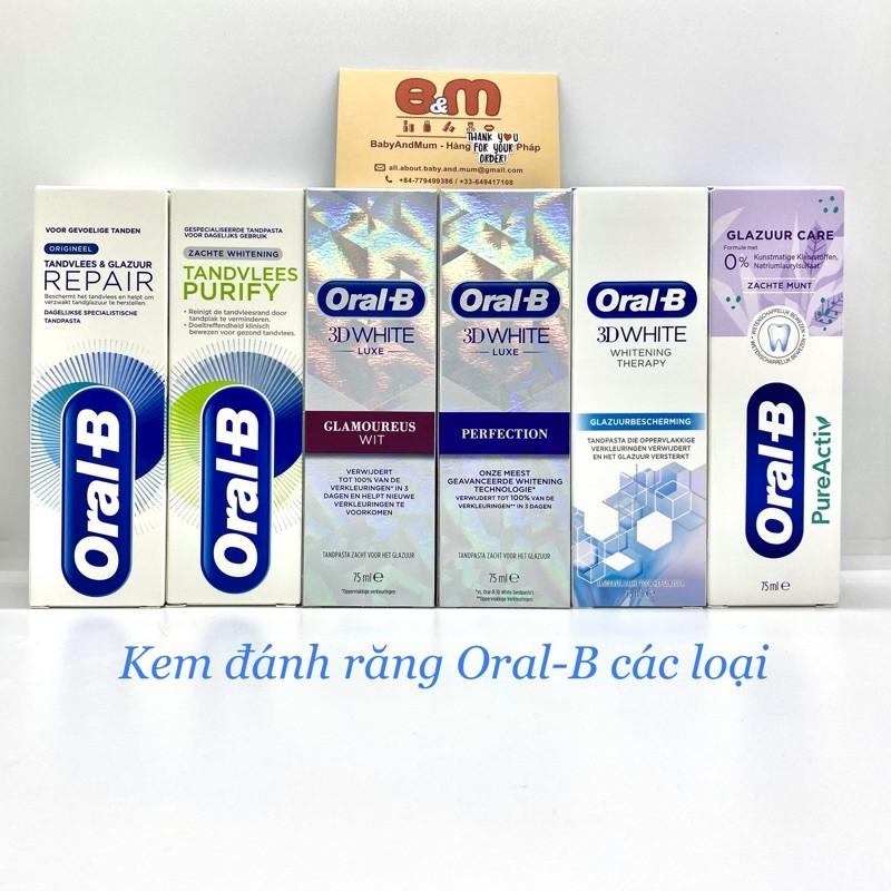 Kem đánh răng Oral B các dòng Best Seller của hãng - Made in Germany