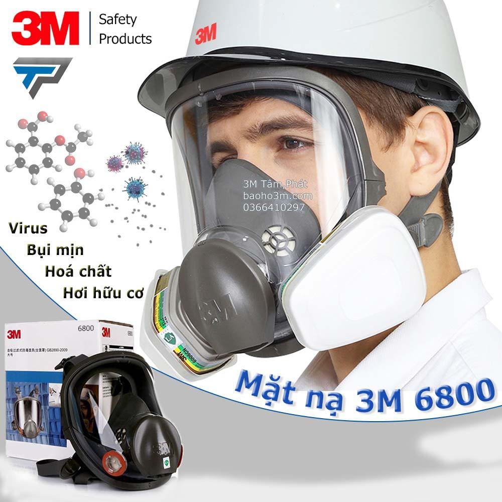 Mặt nạ phòng độc 3M 6800 có kính chắn bụi và khói