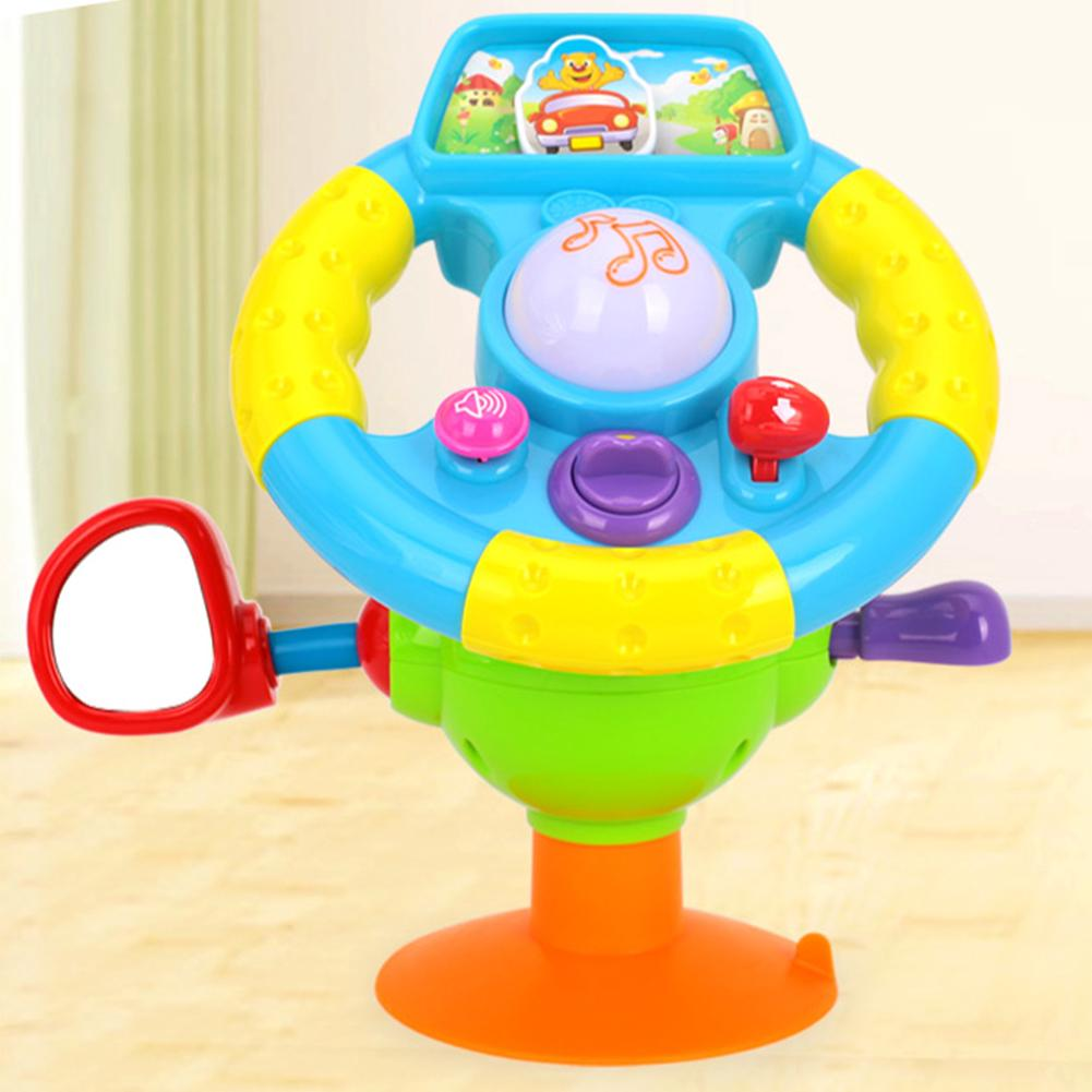 Mini Boy Baby Kid Music Girl Early Education Gift Driving Simulation Steering Wheel Toy