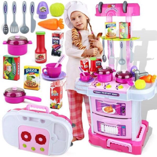 Little chef 3in1 - Kệ bếp cao dạng vali kéo