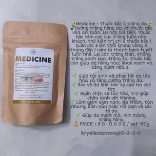 KRYSTAL MEDICINE – Ủ trắng bột thuốc bắc 100% thiên nhiên cho body TẶNG cọ + que