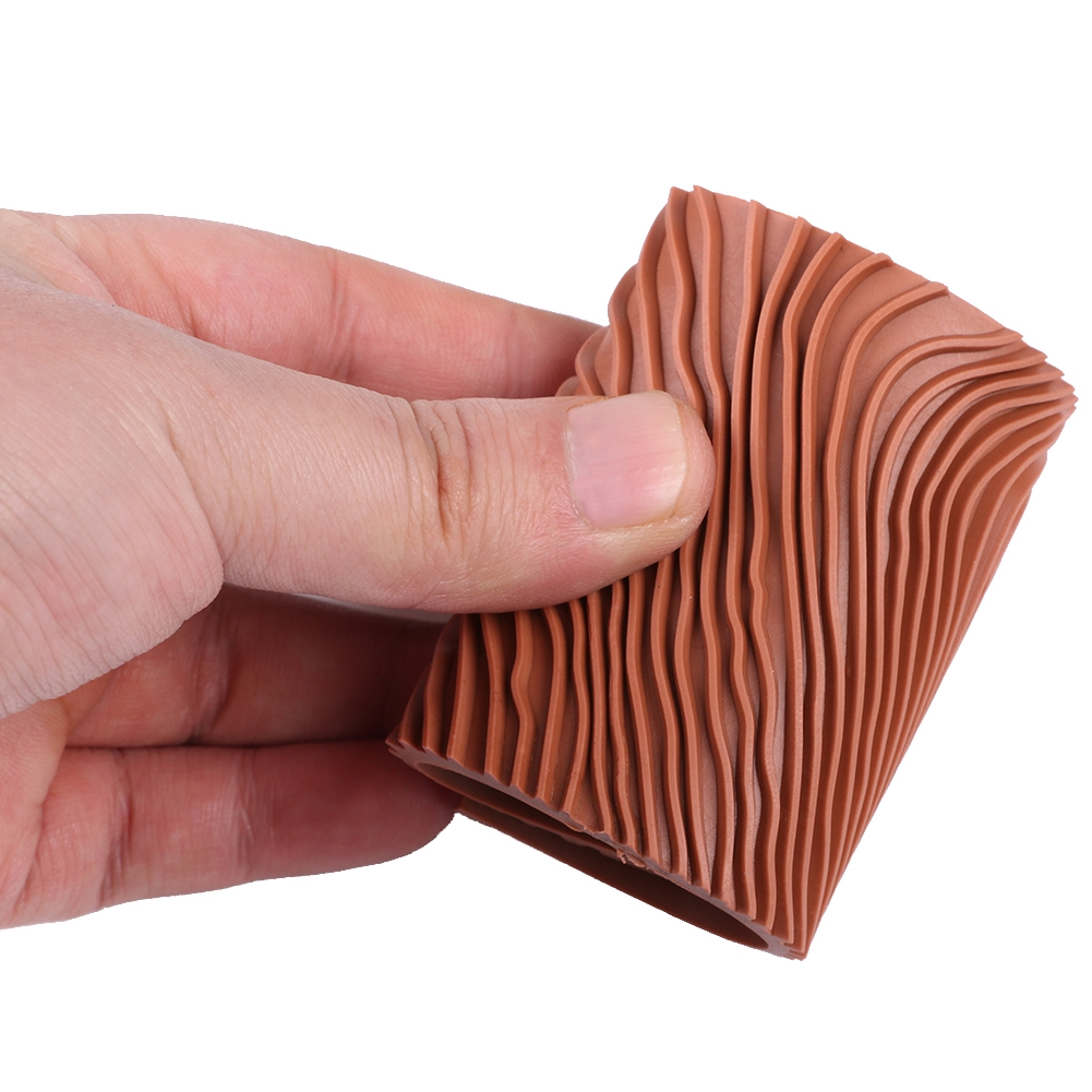 Wall Texture DIY Graining Practical Home Decoration Wood Grain Rubber Painting Tool