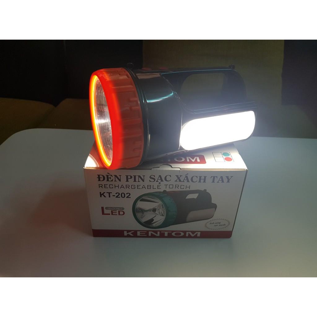Đèn pin sạc xách tay Led Kentom KT-202 (có bóng Led bên hông tiện lợi) giá  cạnh tranh