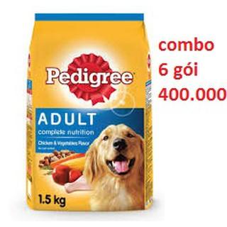 [Mã 157FMCGSALE giảm 8% đơn 500K] 6 gói thức ăn pedigree vị gà gói 1.5kg thumbnail