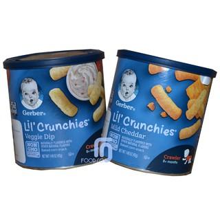 Bánh Gerber Crunchies Combo 2 lon Phô Mai 42g & Rau Củ 42g