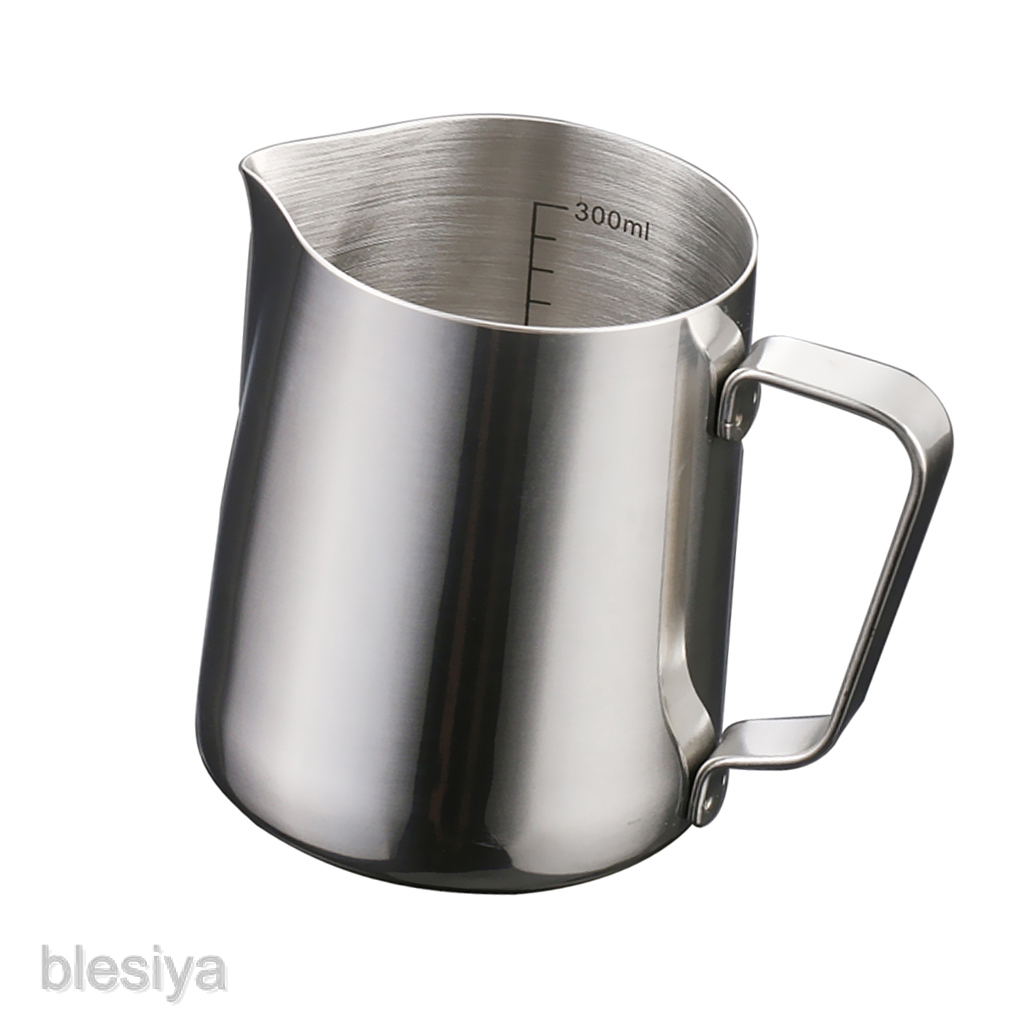 Latte Milk Tea Frothing Jug Garland Cup Coffee Machine with Scale 350,600ML #2