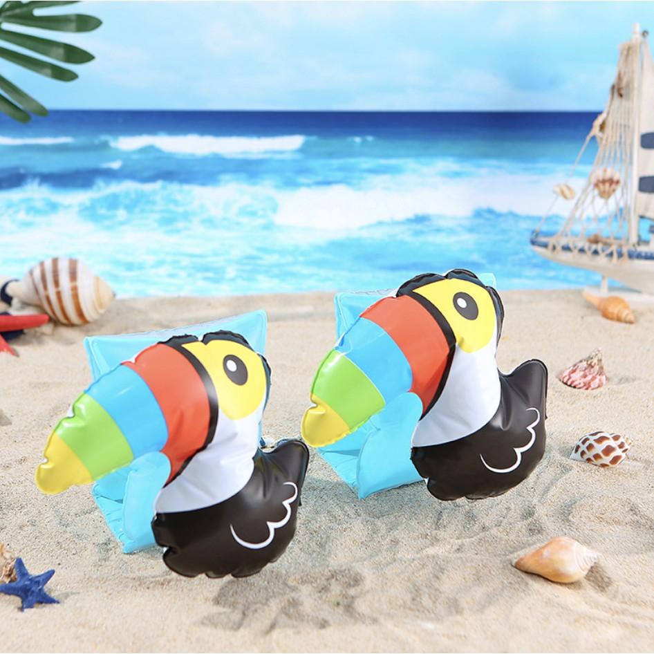 Phao tay tập bơi cho bé trai bé gái nhiều chủ đề động vật đáng yêu chất liệu PVC giúp bé tập bơi dễ dàng