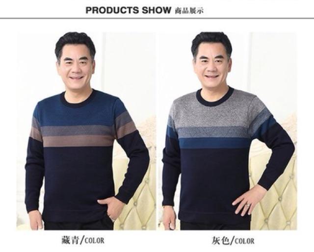 Áo len lót lông cho bố - quà tặng áo len cho bố