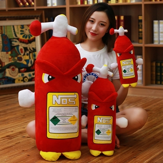 35cm/50cm/80cm Creative Fire Extinguisher Stuffed Toy Pillow