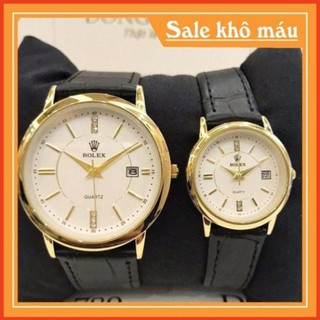 [Free Sip] [Siêu Phẩm] Đồng hồ cặp đôi Nam (nữ) Rolex RL110 Class dây da cao cấp -Real.watches leocamwatch thumbnail