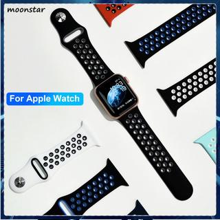 Dây Đeo Silicon Chống Mòn Màu Trơn Cho Đồng Hồ Thông Minh Apple Watch 1 / 2 / 3 / 4 / 5